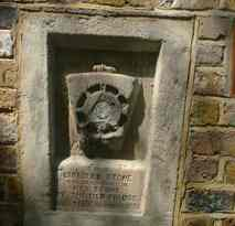 Keystone of old bridge, Hampstead Road